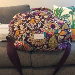 Vera Bradley Weekender Bag in Plum Crazy